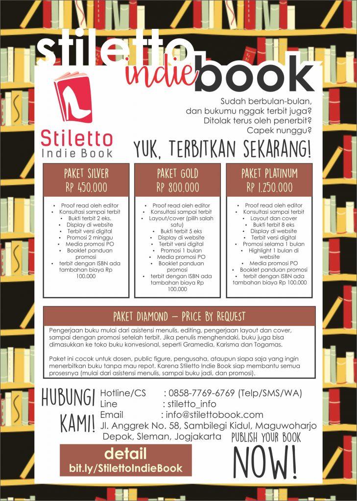 paket penerbitan buku indie Stiletto Indie Book