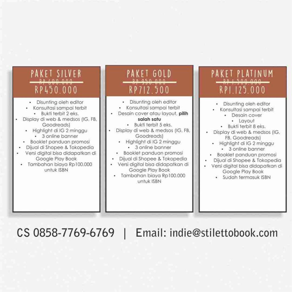 Paket Penerbitan Buku Indie