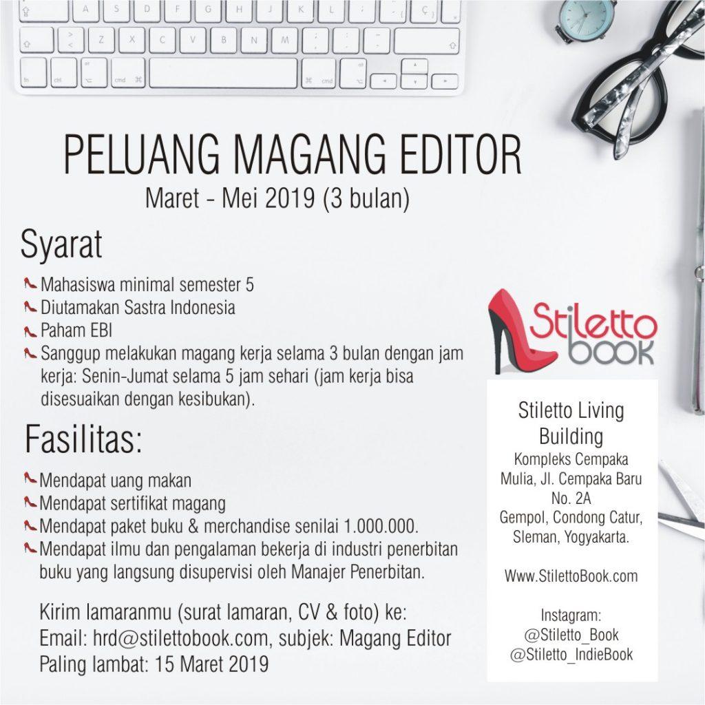 Magang Kerja Editor 2019